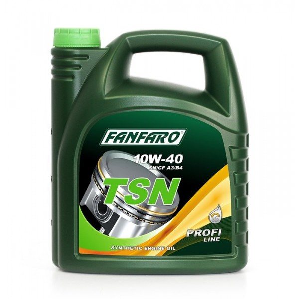 Моторное масло Fanfaro TSN 10w40 SN/CF синтетическое, металлическая канистра (4л)