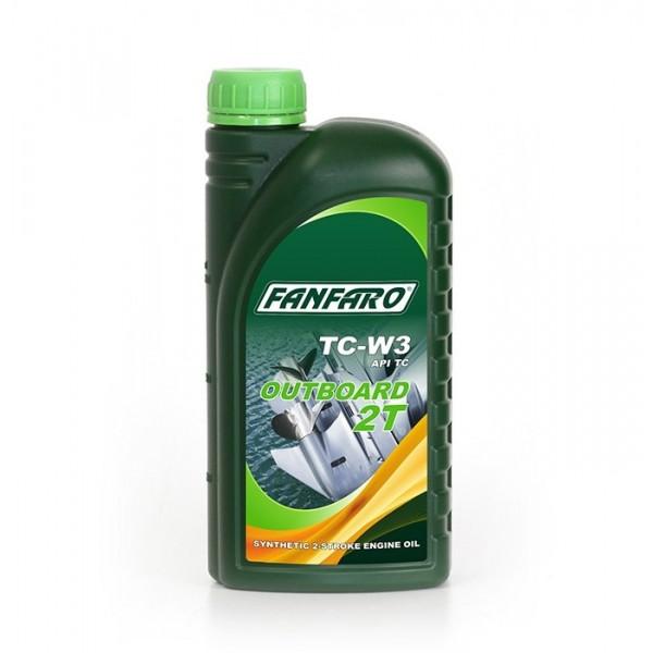Моторное масло для двухтактных двигателей Fanfaro M 2T Outboard TC W3 синтетическое (1л)