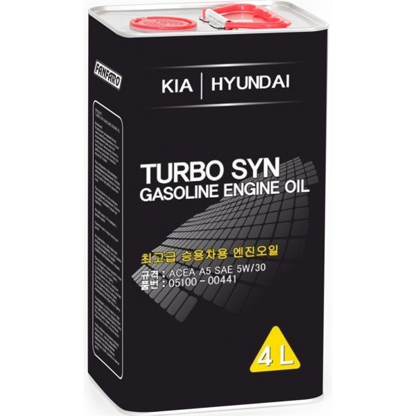 Моторное масло Fanfaro KIA Hyundai 5w-30 А5, 6714 синтетическое (4л)