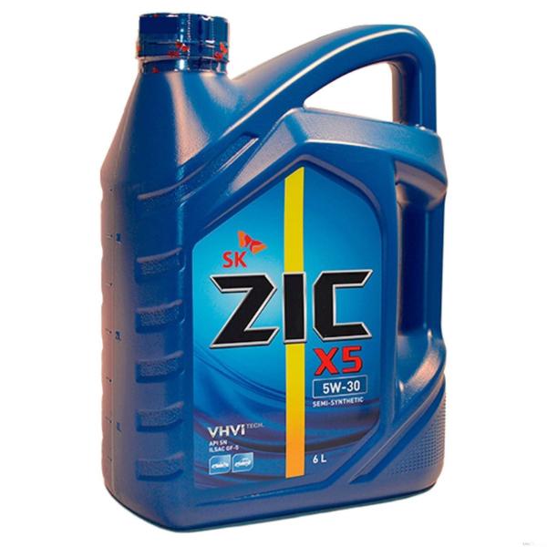 Моторное масло Zic X5 10w40 полусинтетическое (6 л)