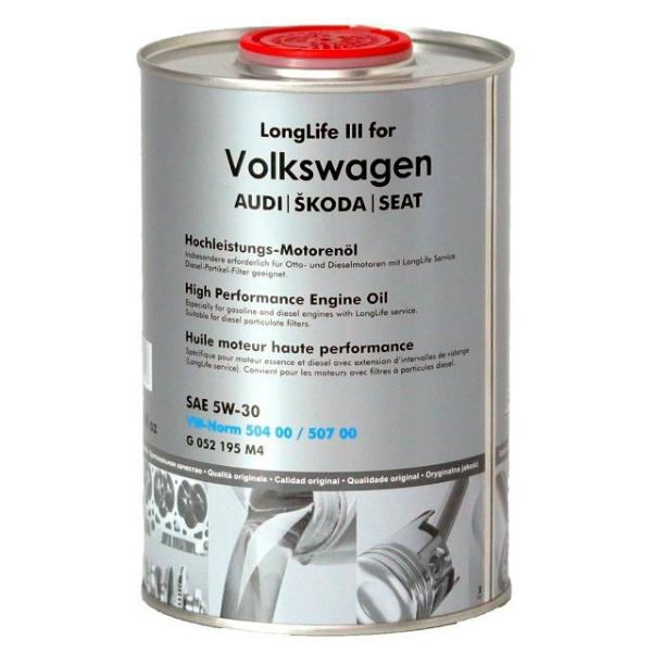 Моторное масло Fanfaro LongLife III для Volkswagen, Audi, SKODA 5w30 SN синтетическое (5л)
